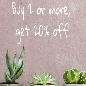 Bundle and Save! 2+ items, 20% off!